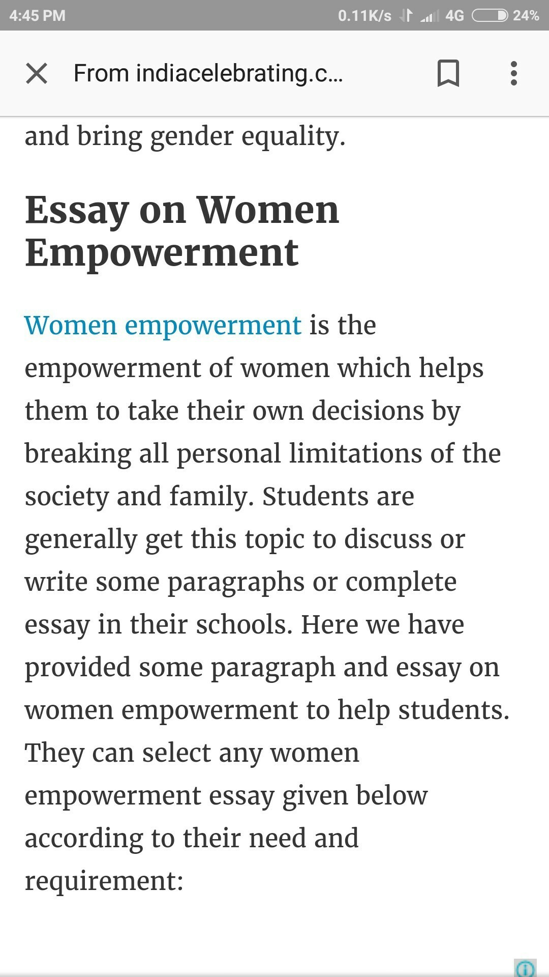 points on womens empowerment
