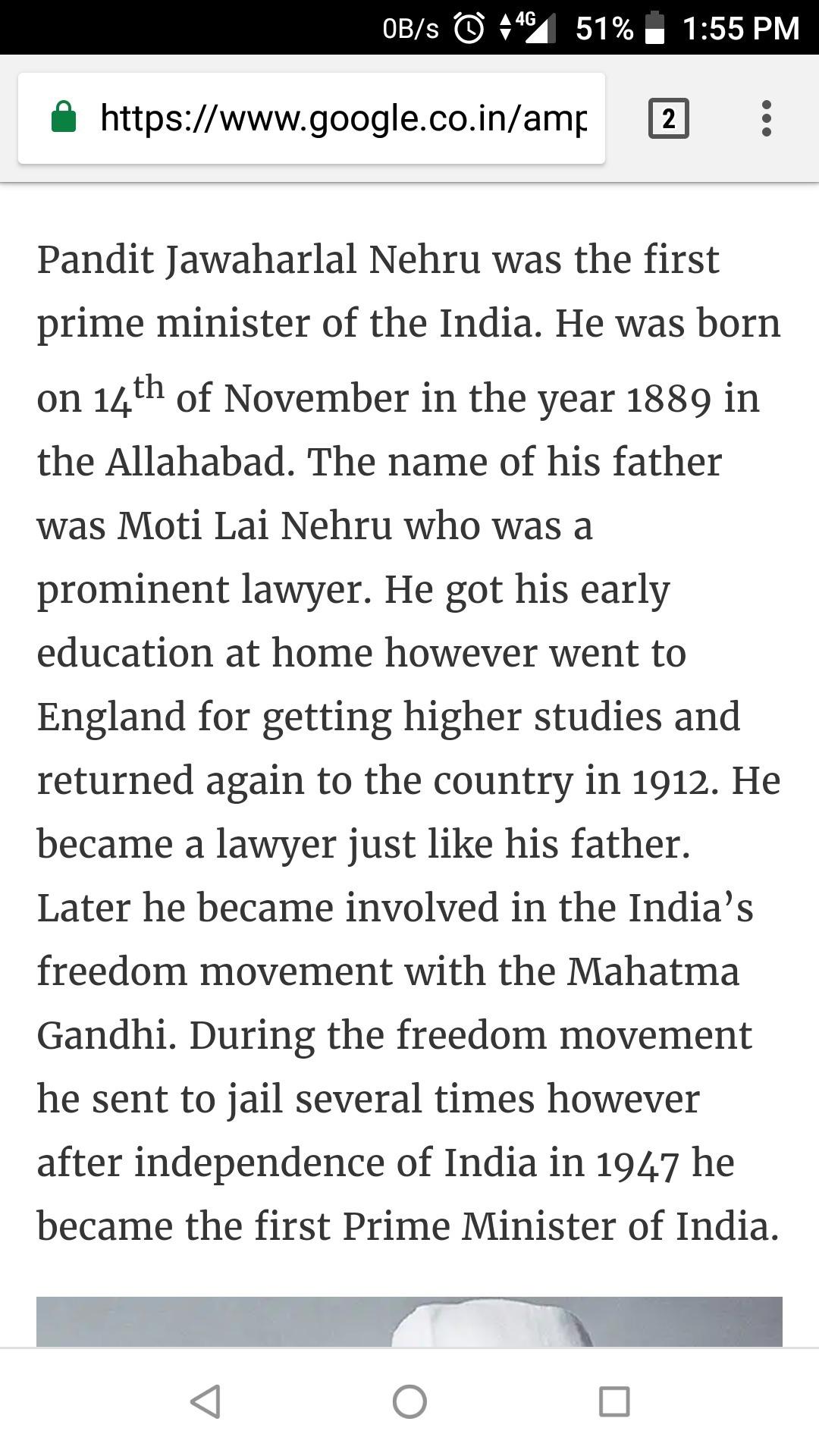 Essay On Nehru In  Words  Brainlyin This Is Your Essayon Jawaharlal Nehru