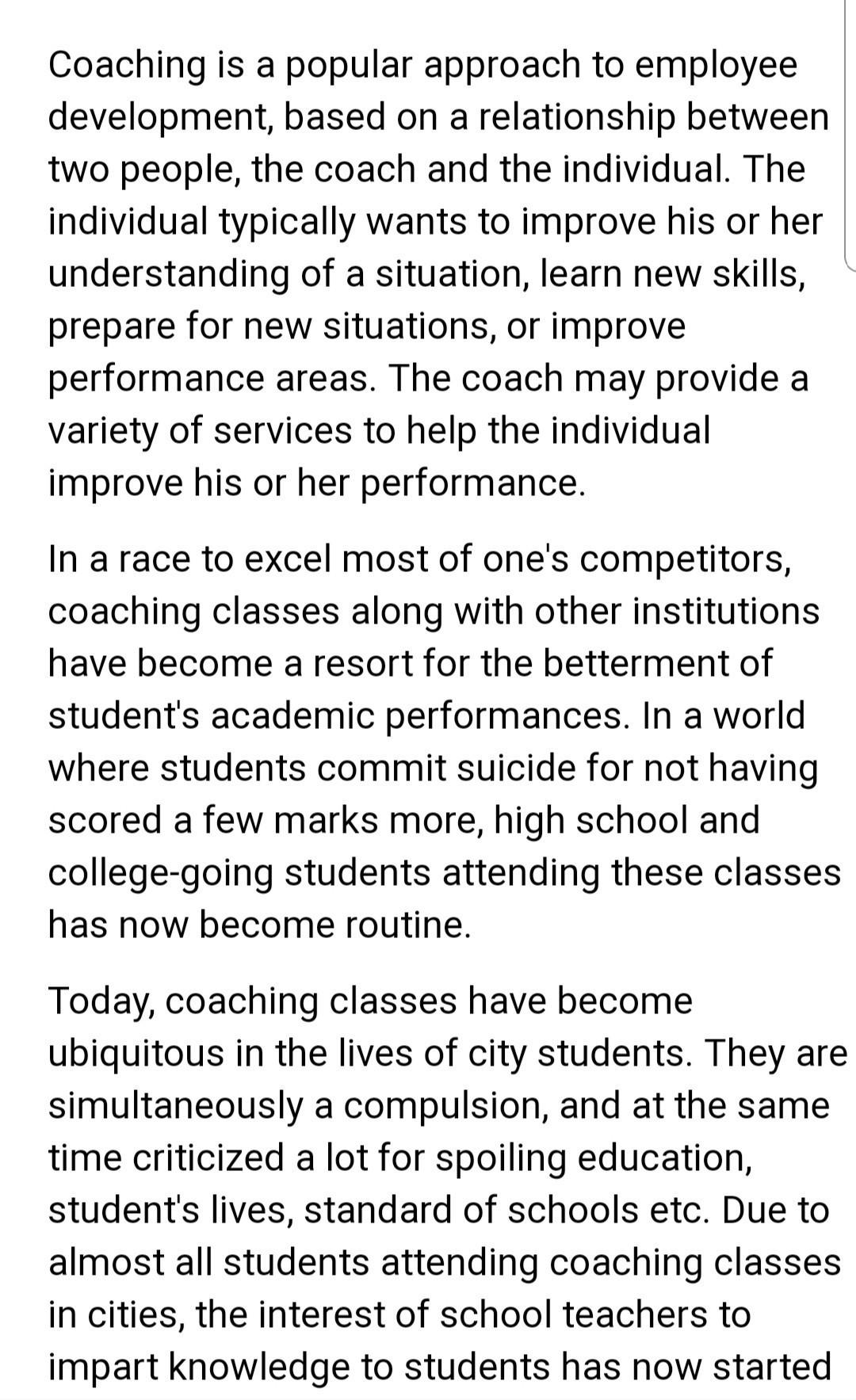 a short paragraph on education