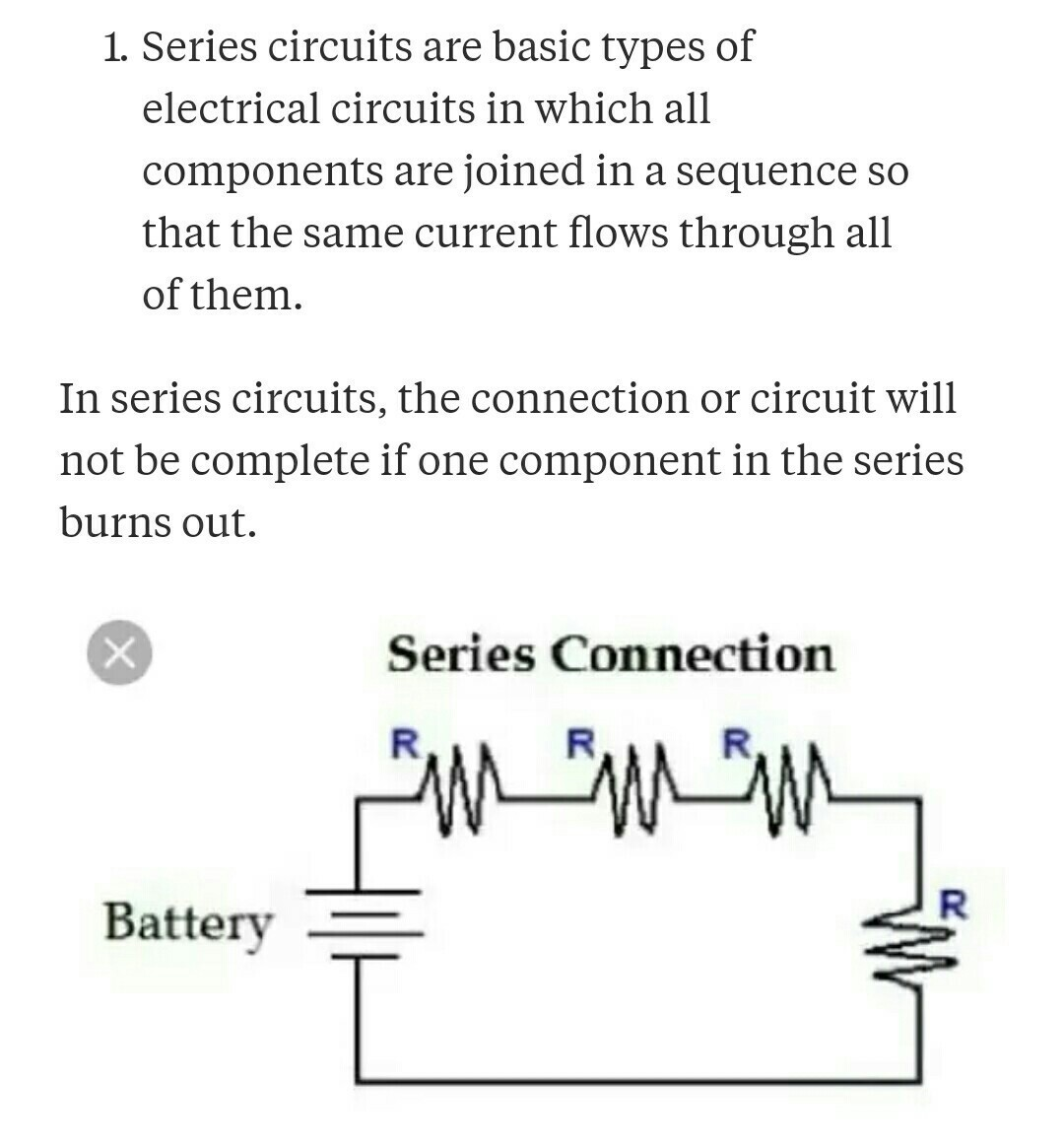 Write 5 Difference On Series Combination And Parallel Circuit Connection Download