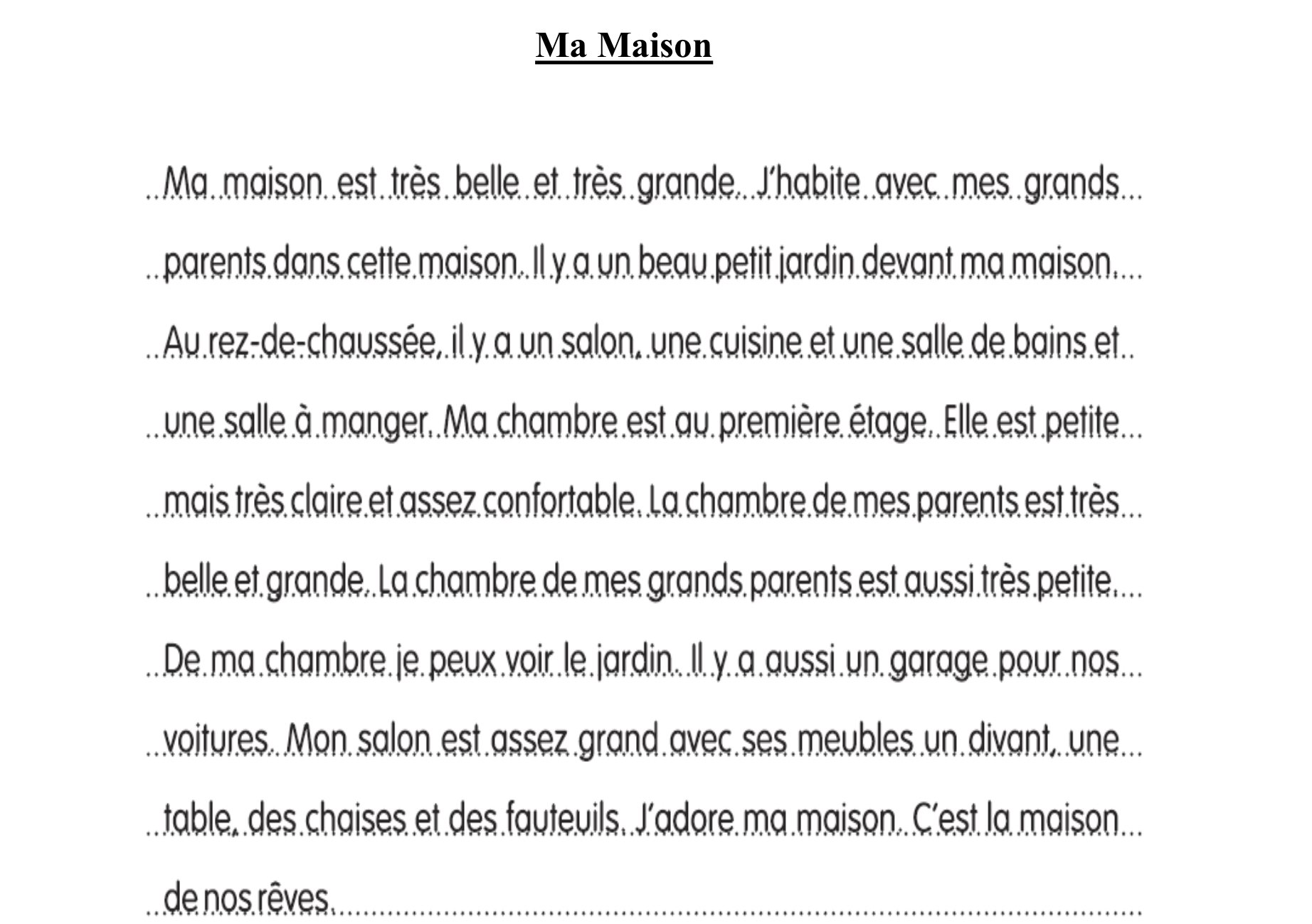 describe your house in  lines in french  brainlyin. download jpeg