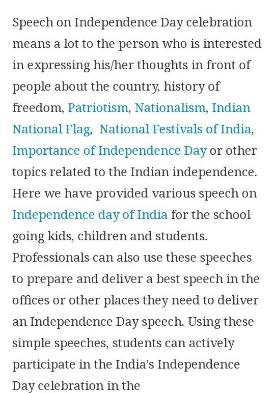 write a essay on independence day for class 7 - Brainly in