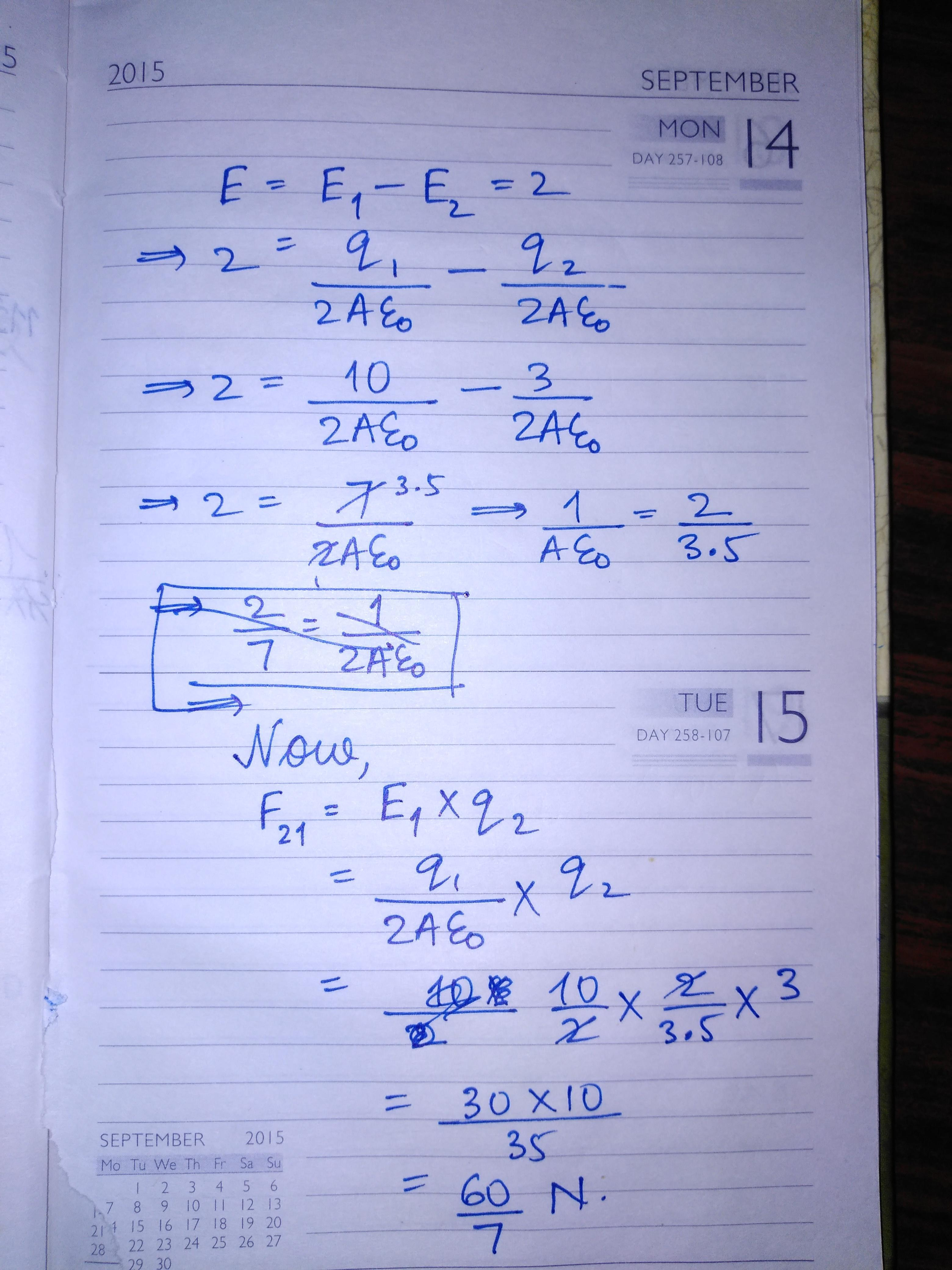 15. If Electric Field Between Plates Of Parallel Plate Capacitor Is 2 N/C  And Charge On Two Plates - Brainly.in