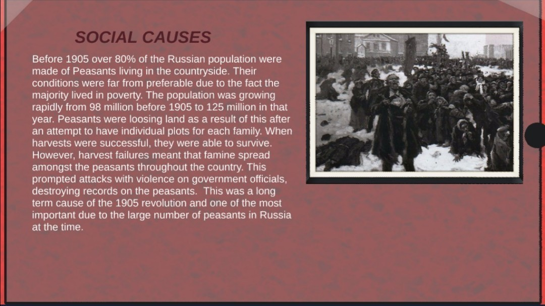 what caused the 1905 revolution