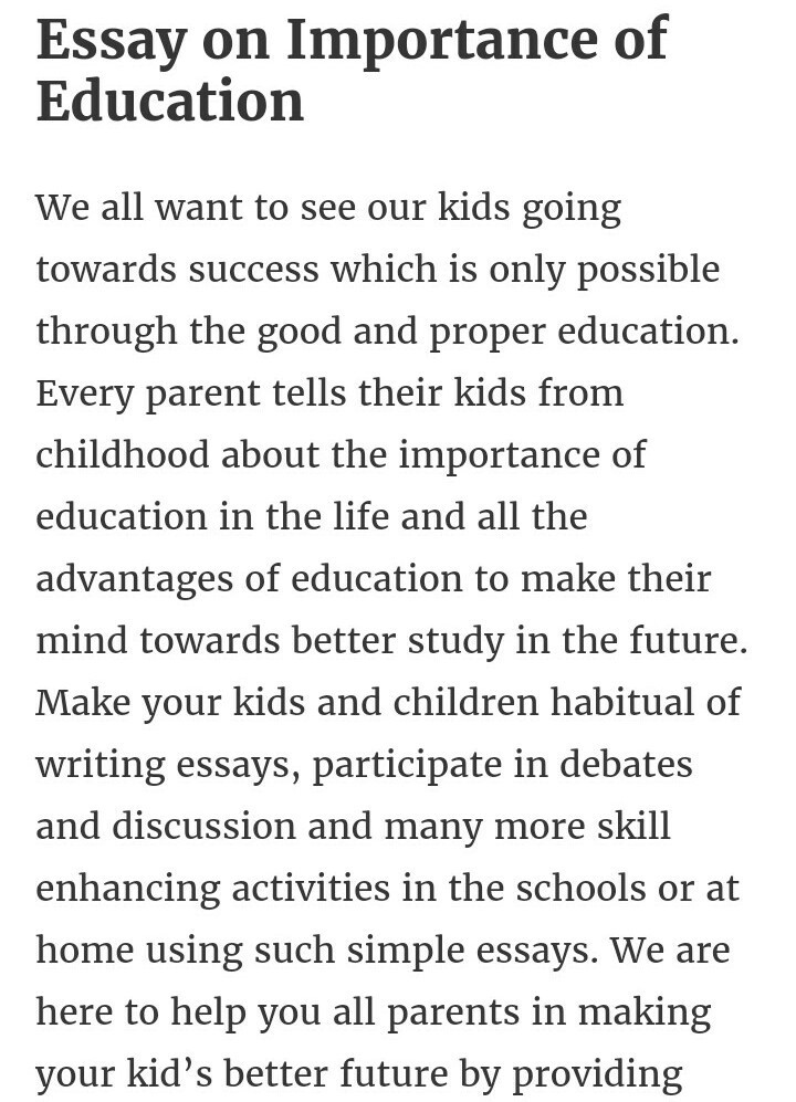 Write a essay of 120 150 words on importance on education brainly in