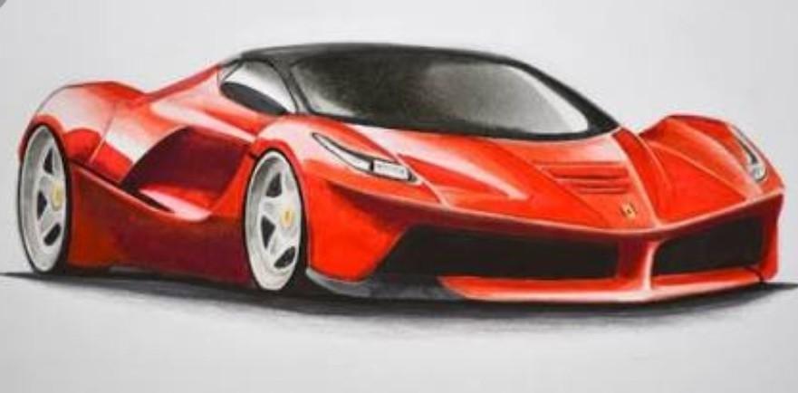 Ferrari Car Drawing Brainly In