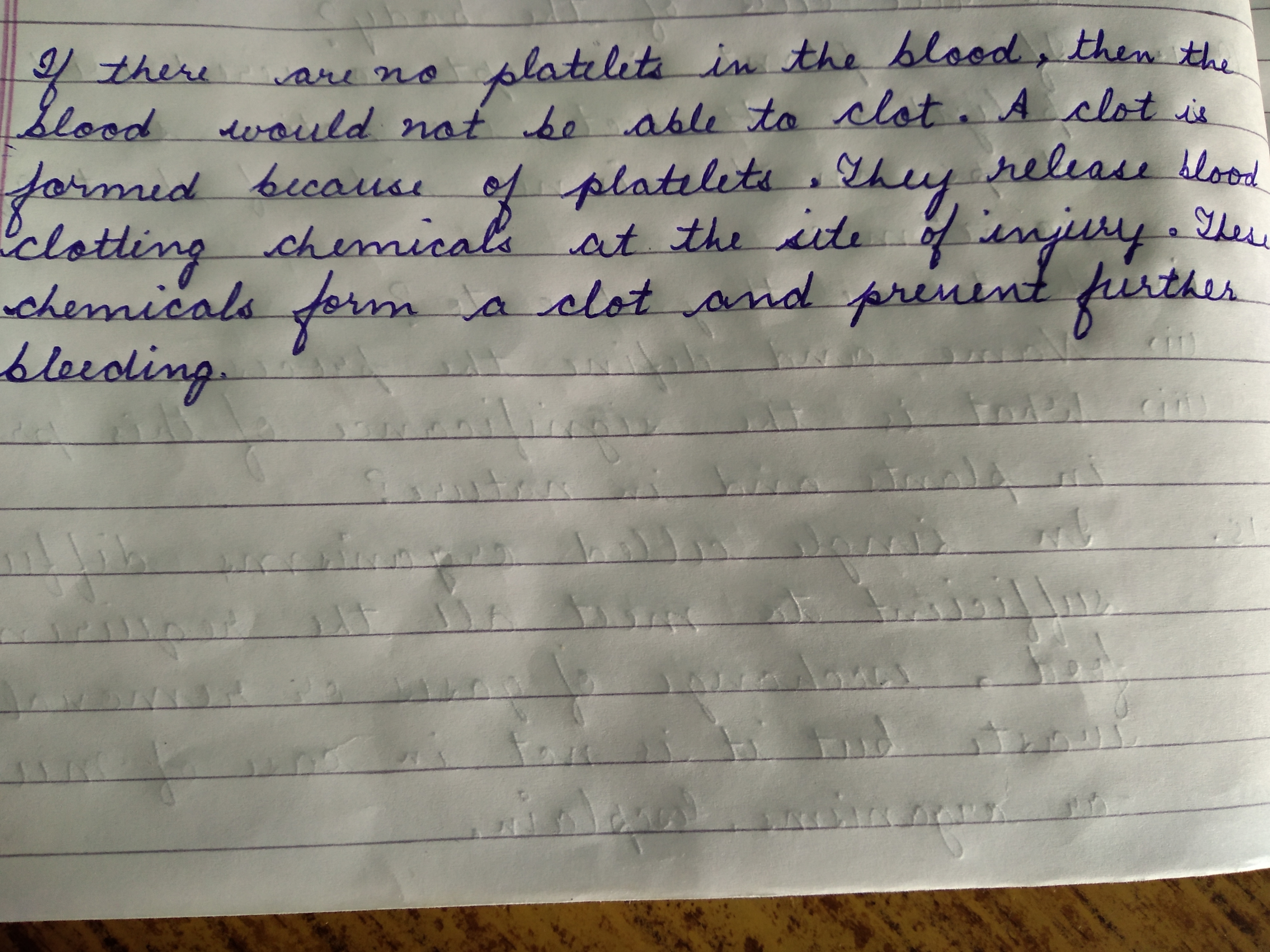 What Will Happen If Platelets Were Absent In The Blood Ncert