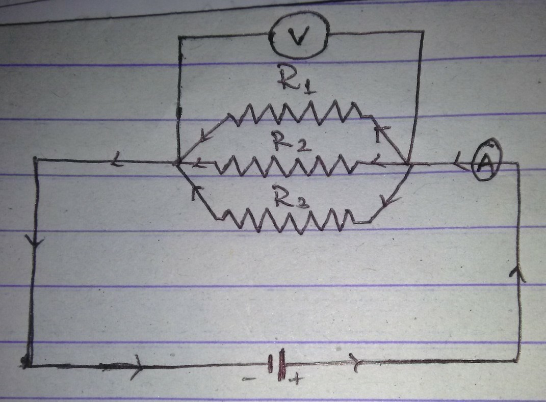 Draw A Diagram Of The Electric Circuit In Which Resistor R1 R2 Engine Download