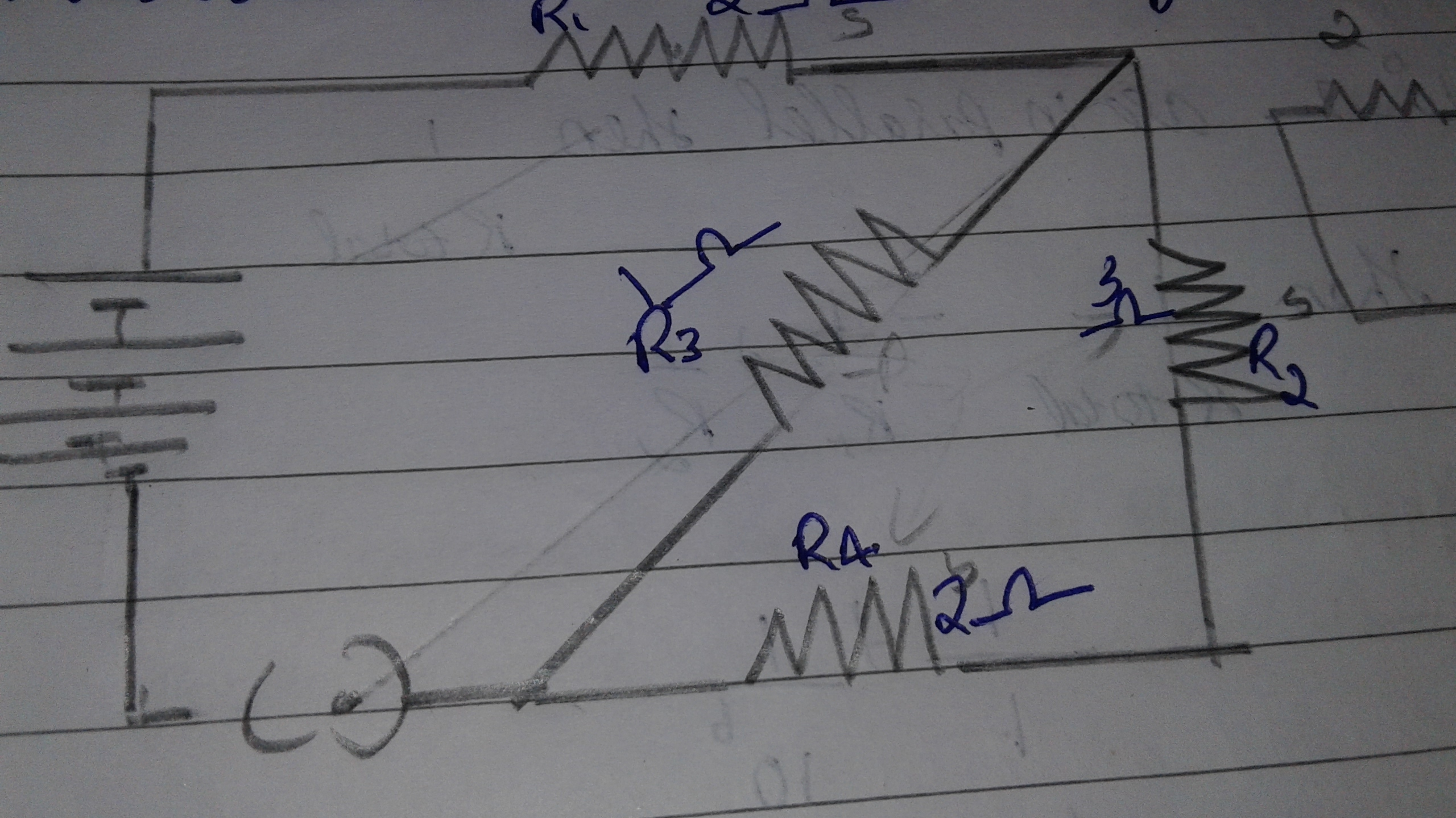 Find The Total Resistance Of Following Circuit In A Series