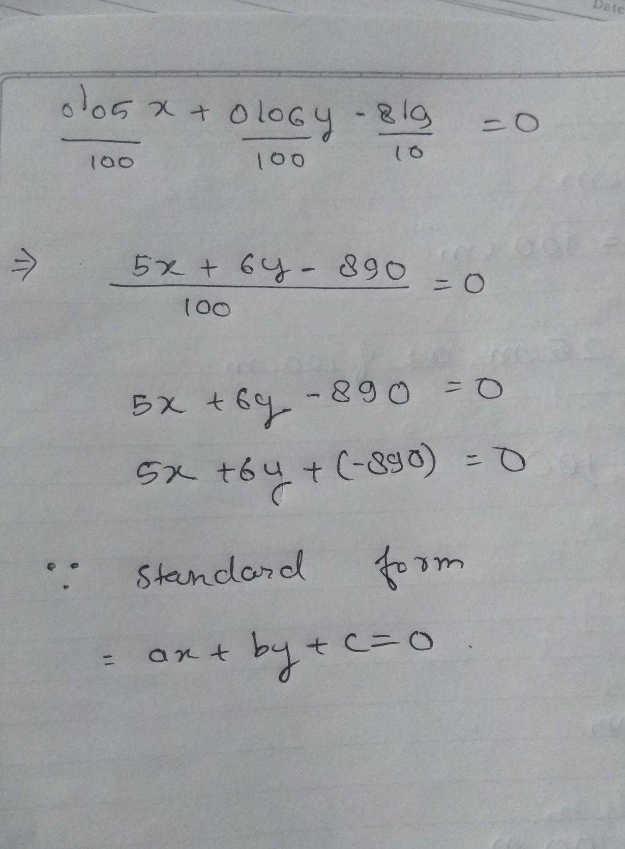 standard form solution