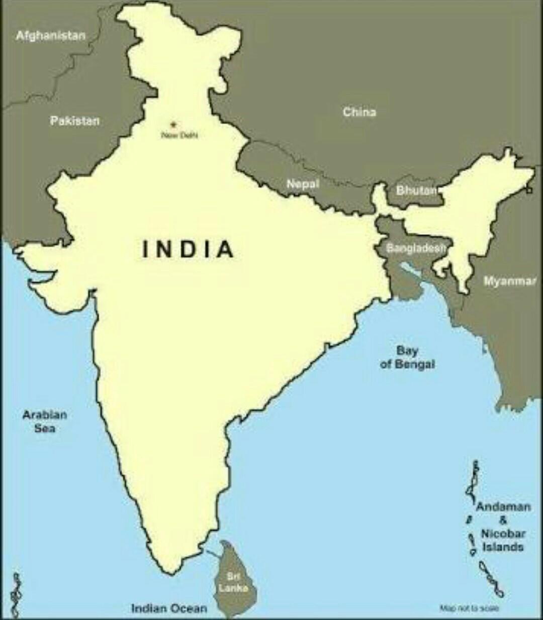 Draw A Map Pointing Places Like Nepal Pakistan Bangladesh England