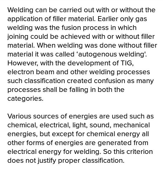 How is welding classified on the basis of pressure? - Brainly in
