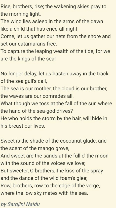 Coromandel Fishers Poem 8 Brainly In