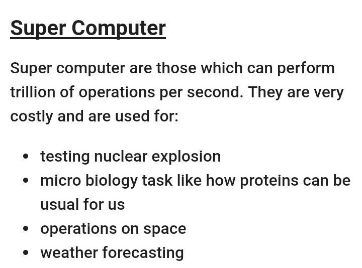 features of modern computer