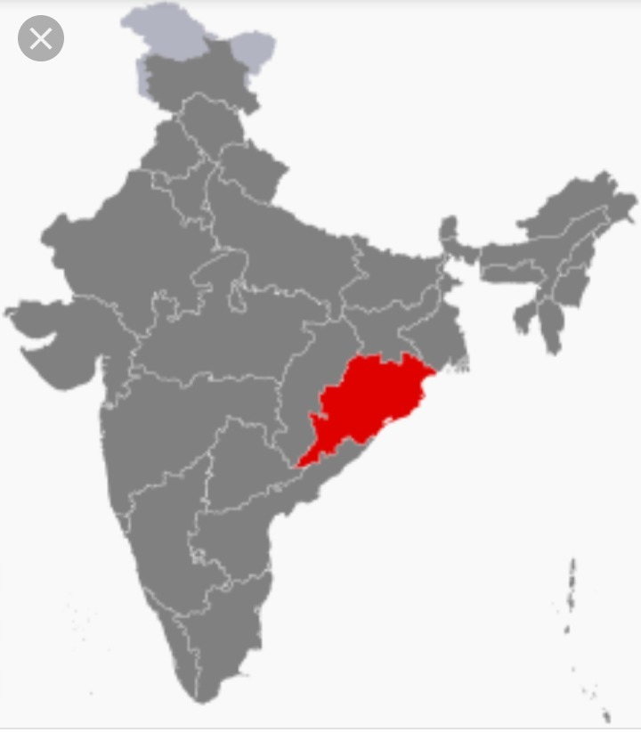 In indian map Odiasha in which direction - inly.in on