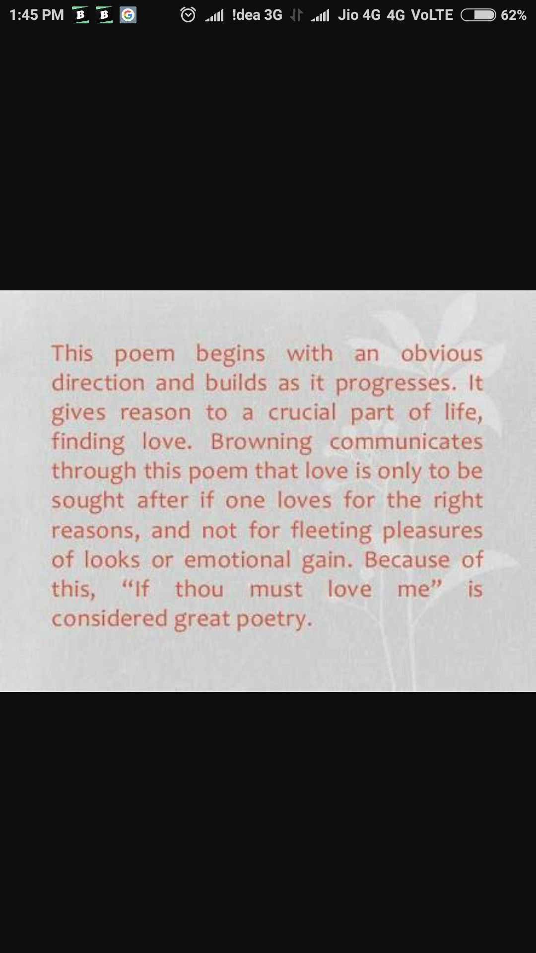 summary of the poem if thou must love me