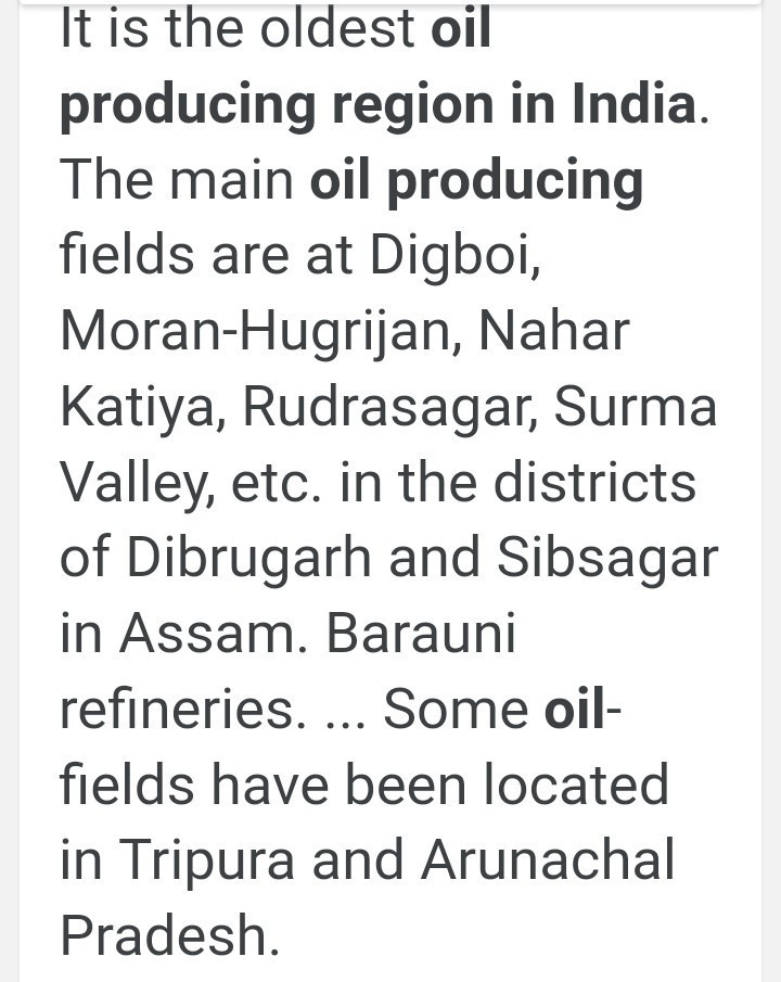 Describe the petroleum producing regions in India  - Brainly in