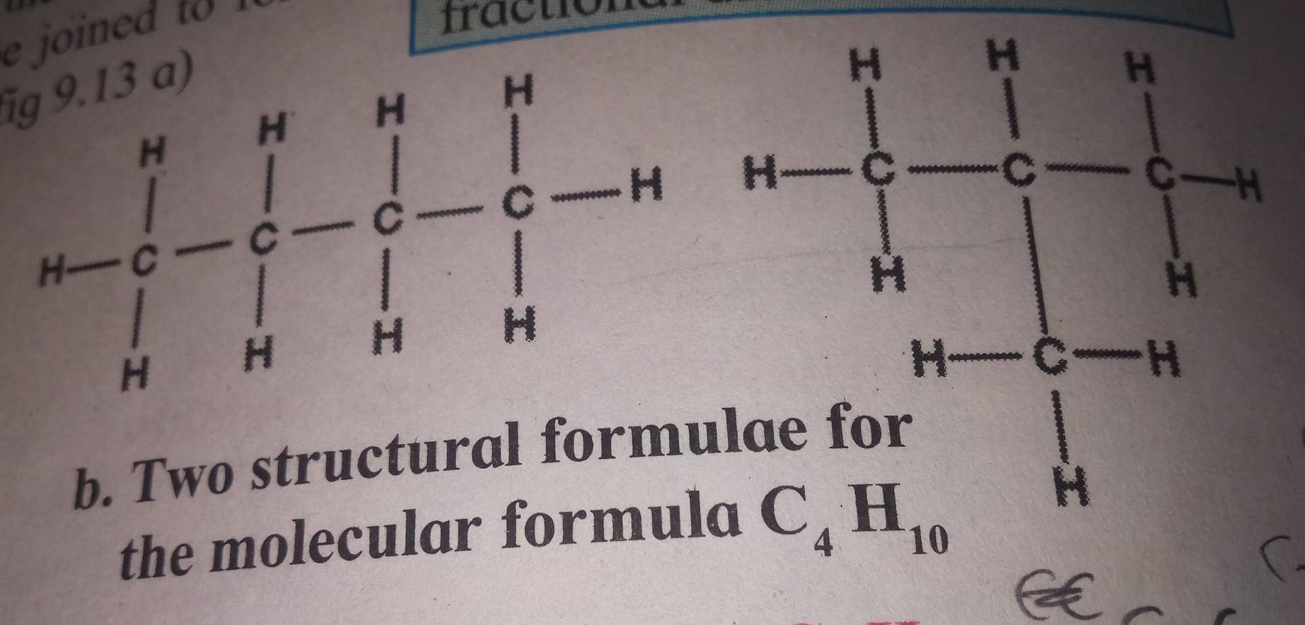 Explain the term structural isomerism with an example