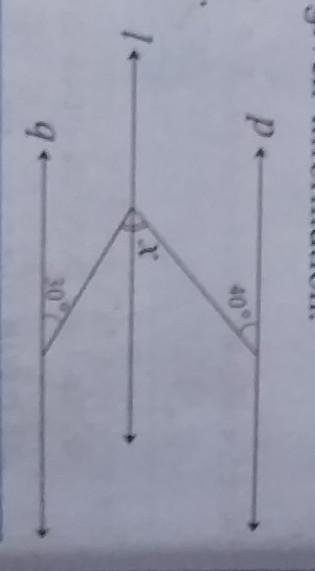 In The Adjoining Figure, Line P // Line L // Line Q. Find Angle X With The  Measures Given In The - Brainly.in