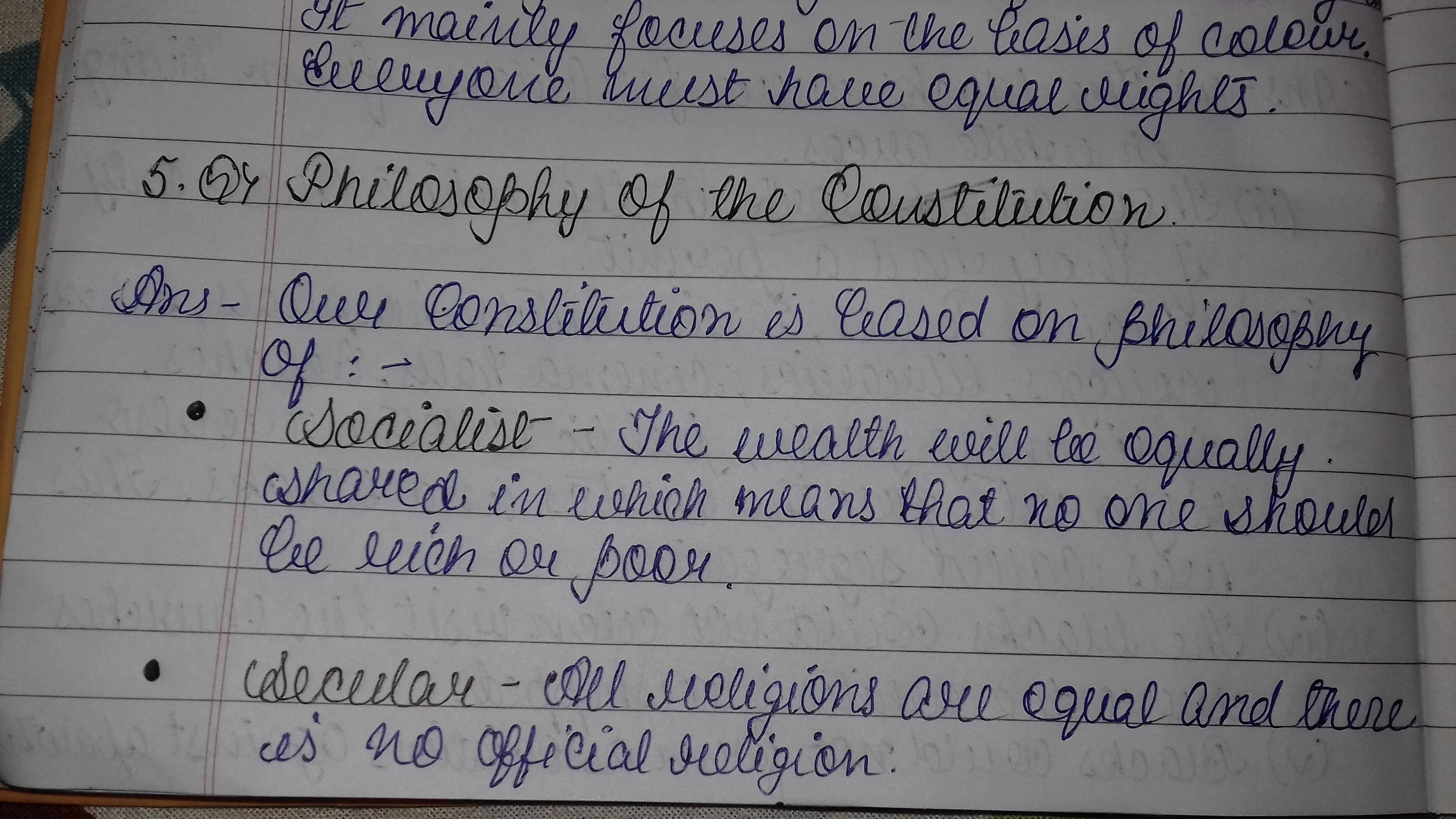 political philosophy Indian constitution - Brainly in