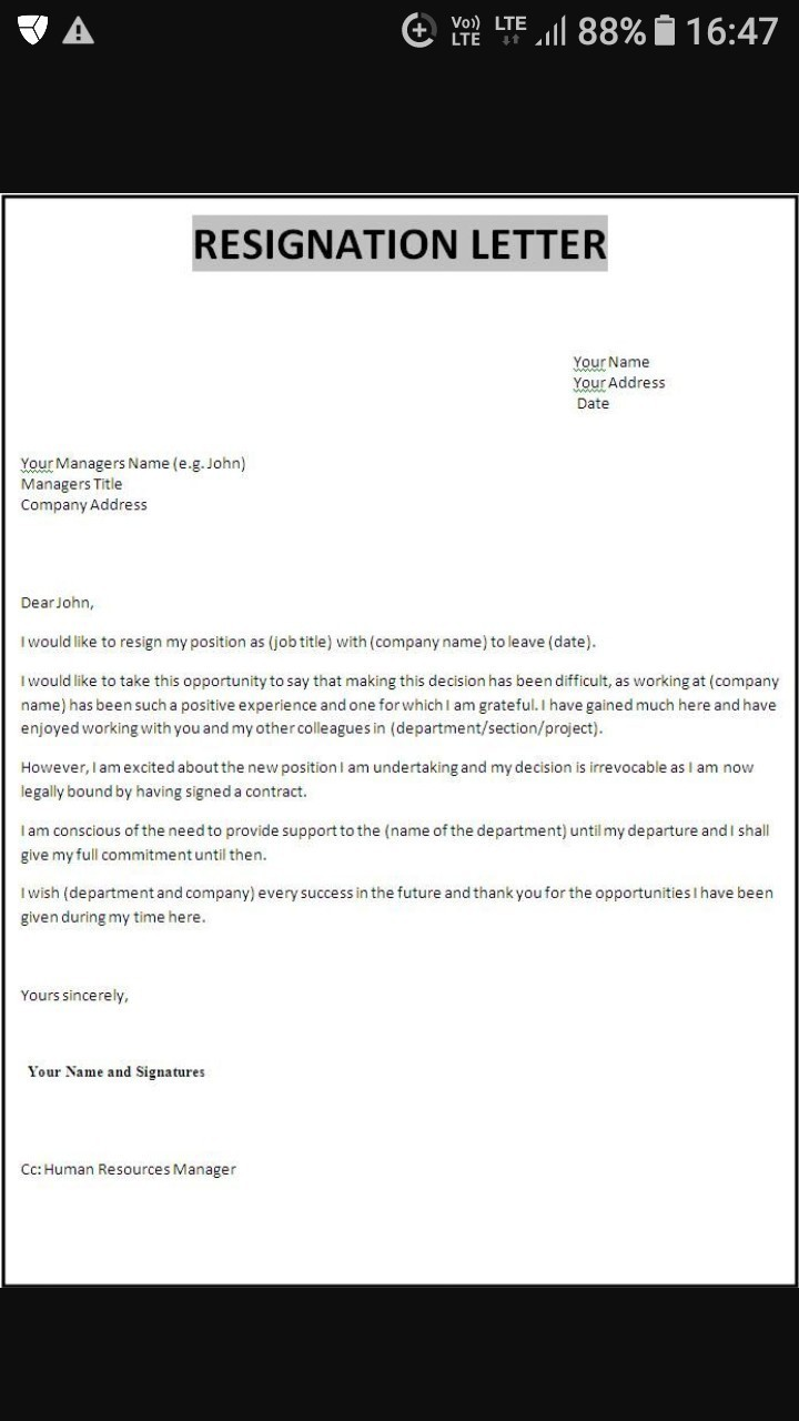 Download jpg resignation letter format in word