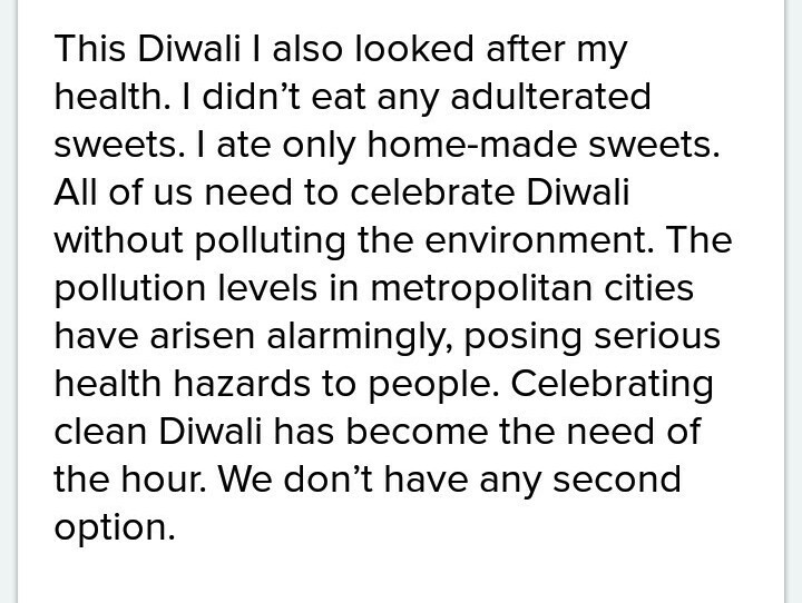 my diwali celebration easy essay in simple past tense - Brainly.in