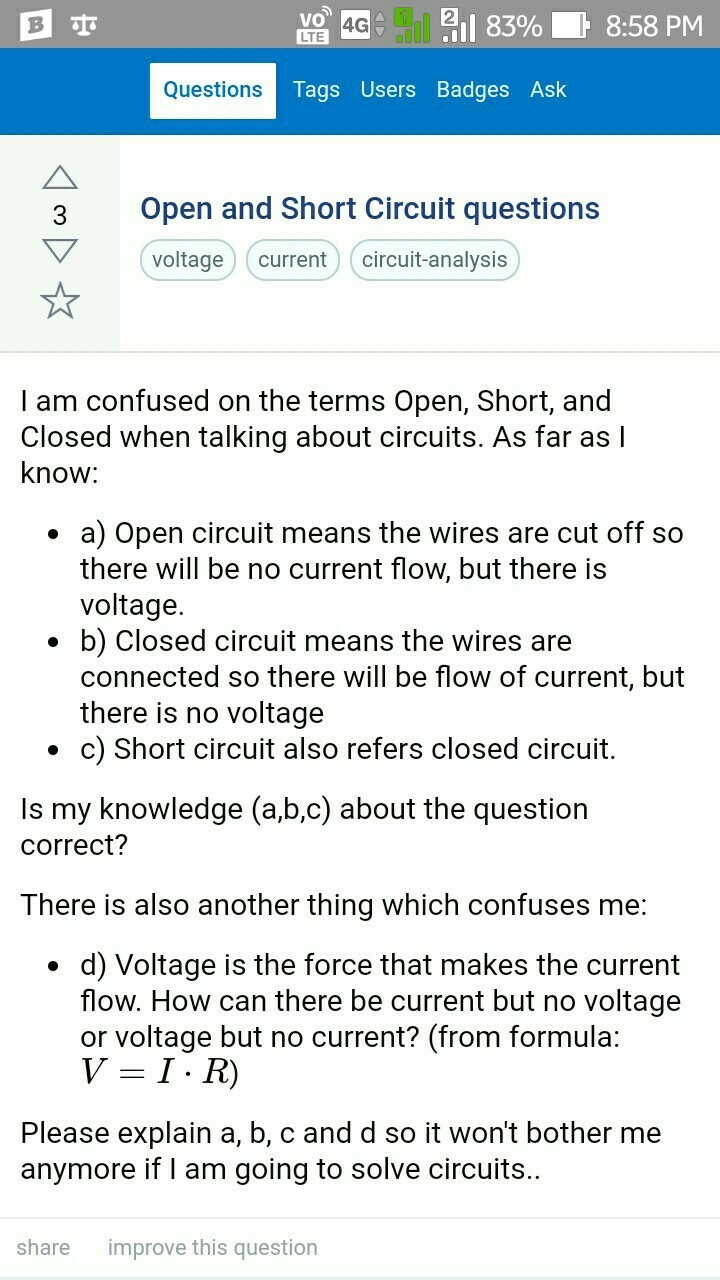 Different Between Short Circuit Current And Open Download