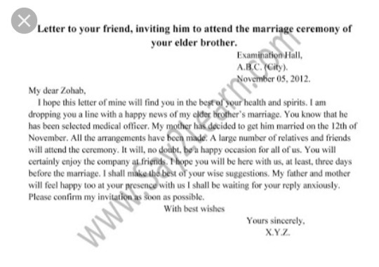 Formal letter to invite friend on brothers wedding brainly download jpg stopboris Gallery