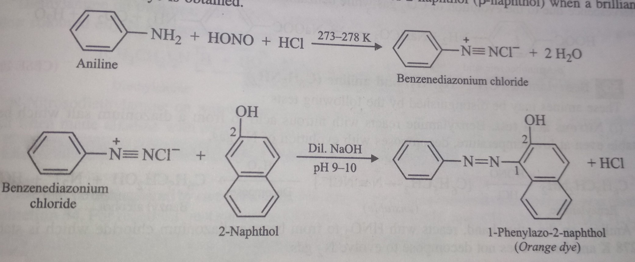 Give one chemical test to distinguish between the following