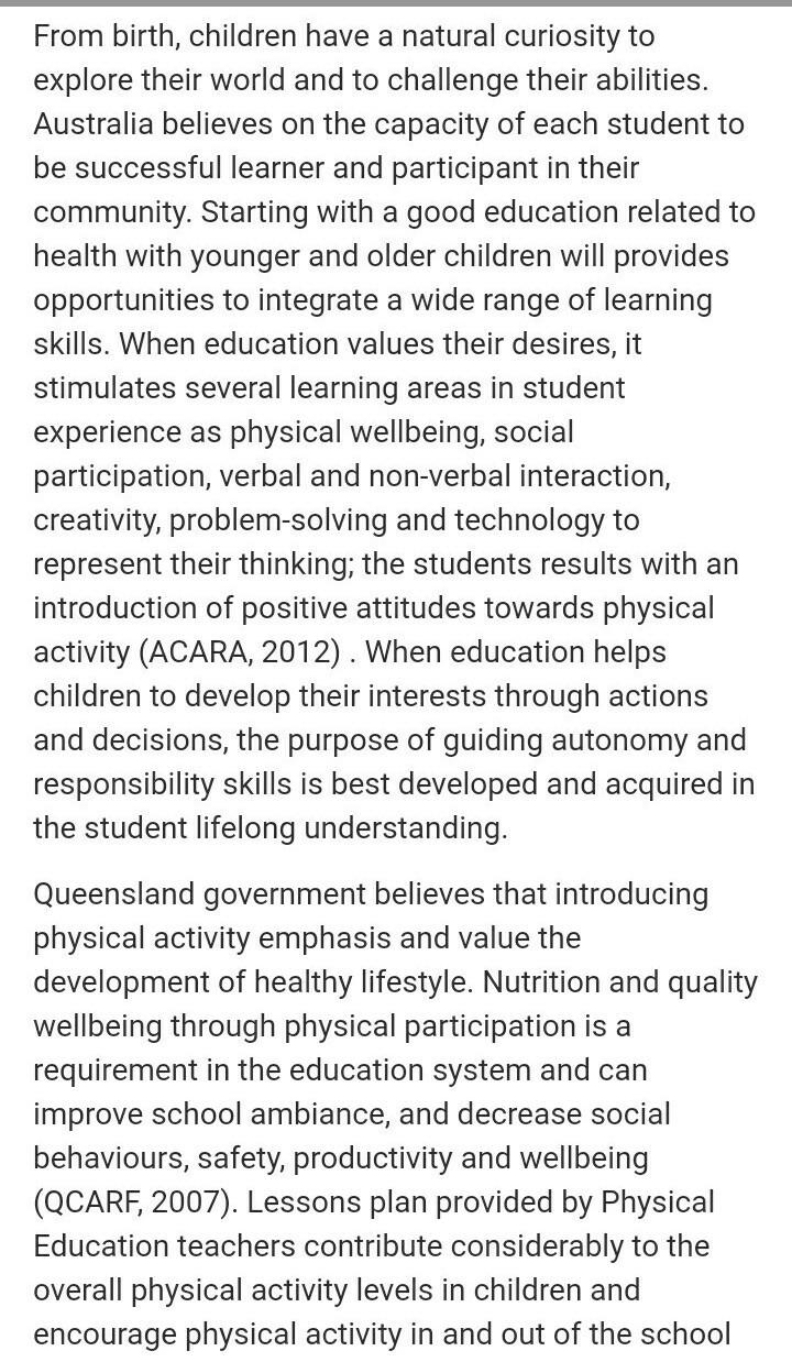 physical and health aducation essay   brainlyin
