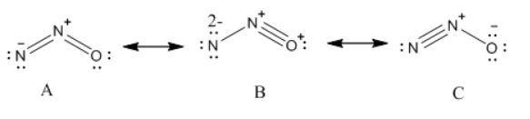 Write Lewis Dot Structure Of N2o