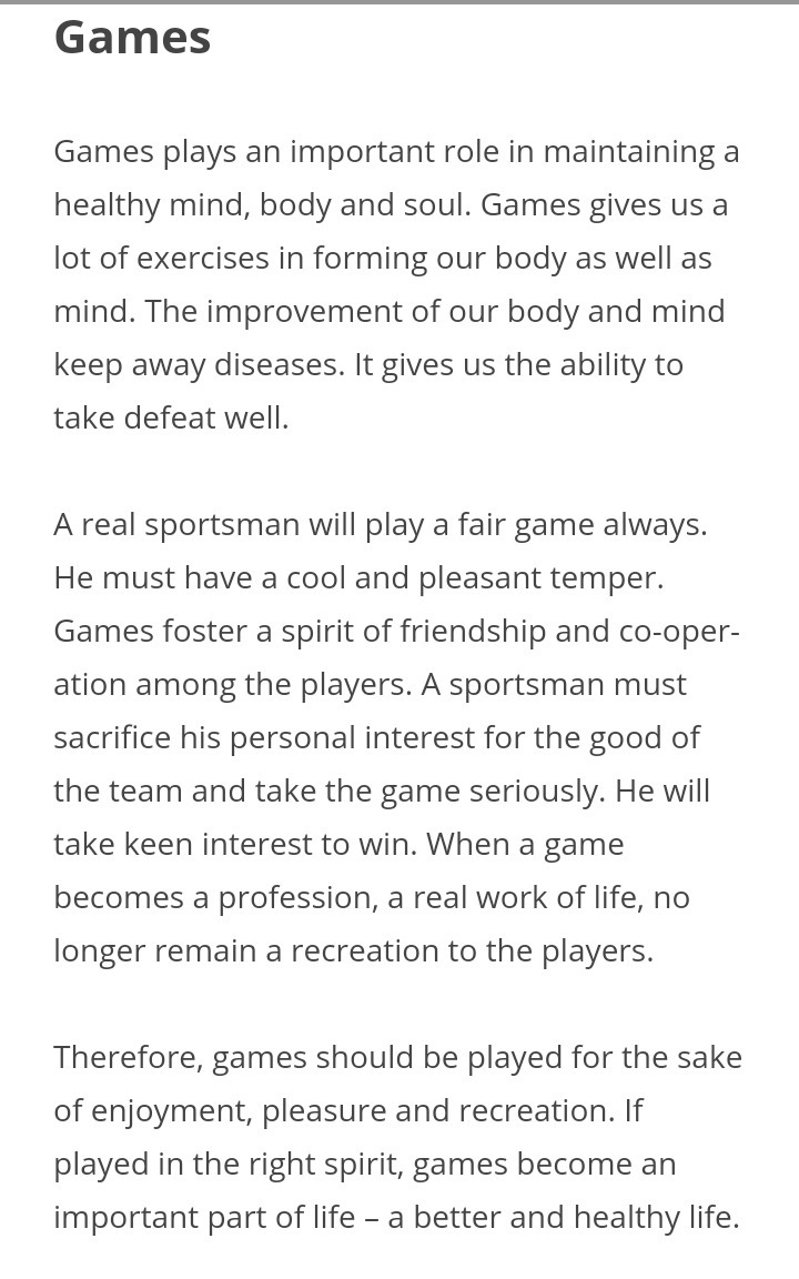 importance of games and sports pdf