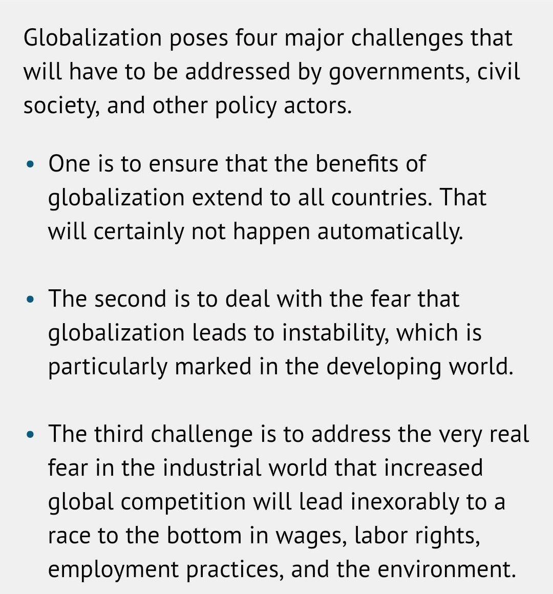 challenges of globalization in business
