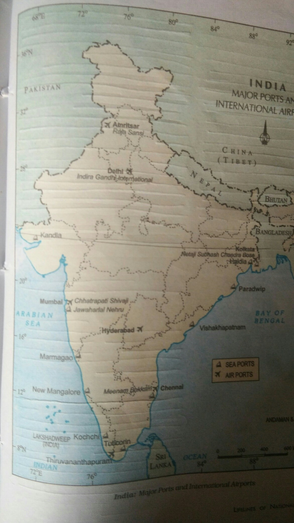 Mark The Major Ports Of India On A Outline Map Of India Idendify