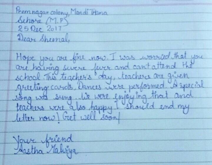 Write A Letter To Your Friend In Another School Telling Him Or Her About Your School Brainly In