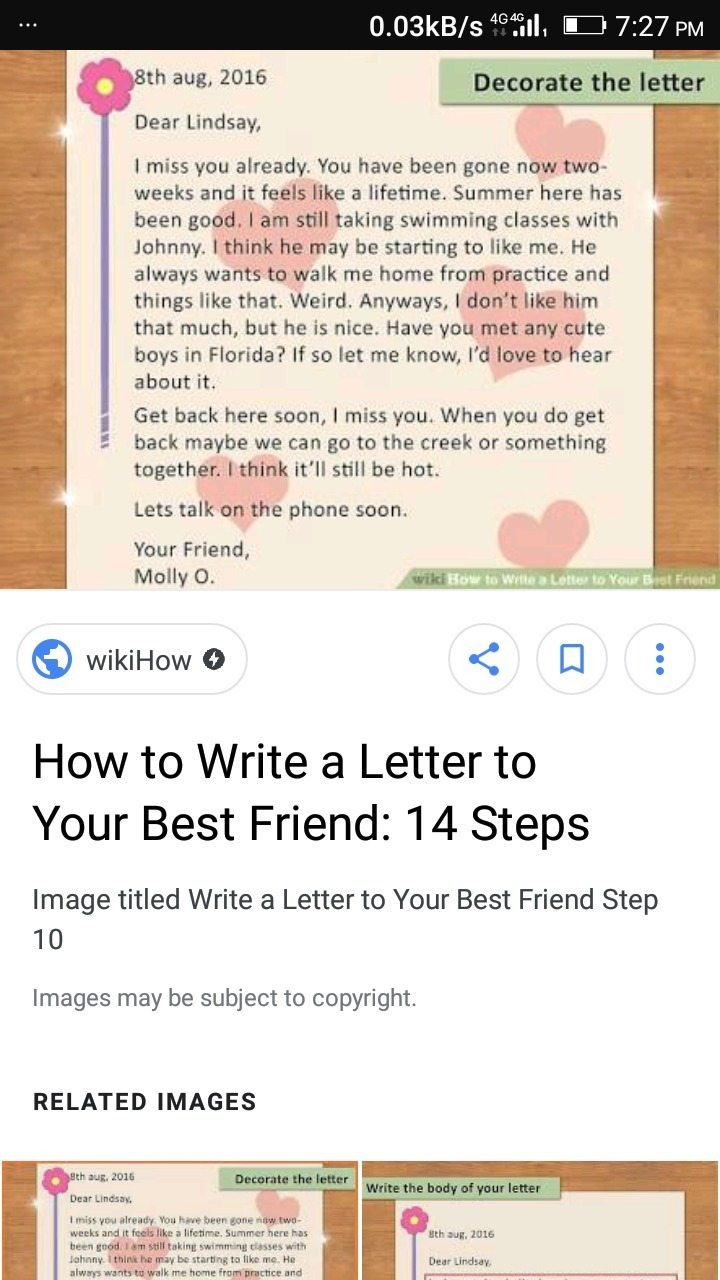 a letter to ur best friend