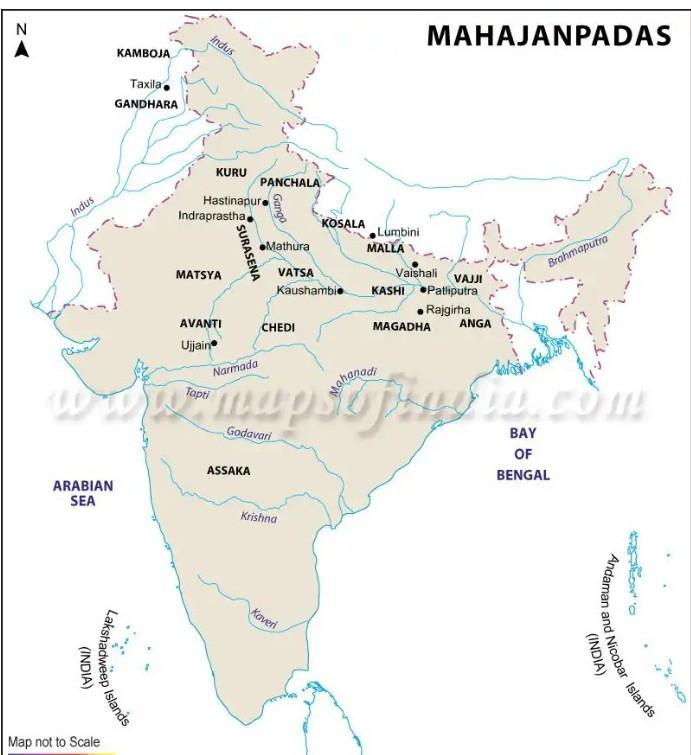 On The Out Line Map Of India Locate The Following Mahajanapadas And Name Them Mugadha Vasta Kuru Brainly In