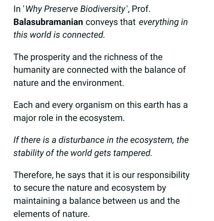 Why Preserve Biodiversity By Balasubramanian Essay  Brainlyin Download Jpg Custom Articles also English Literature Essay Structure  Buy Report Com