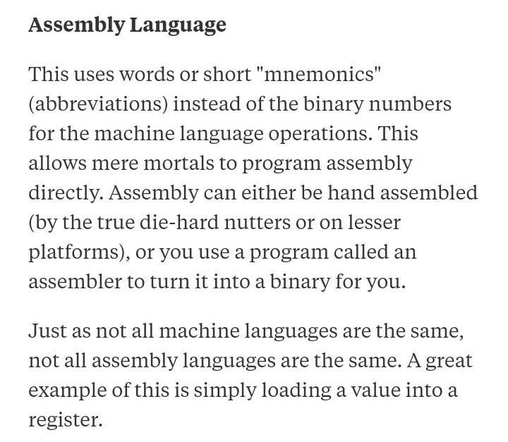 Compare Assembly Language, And High Level Language? - Brainly in