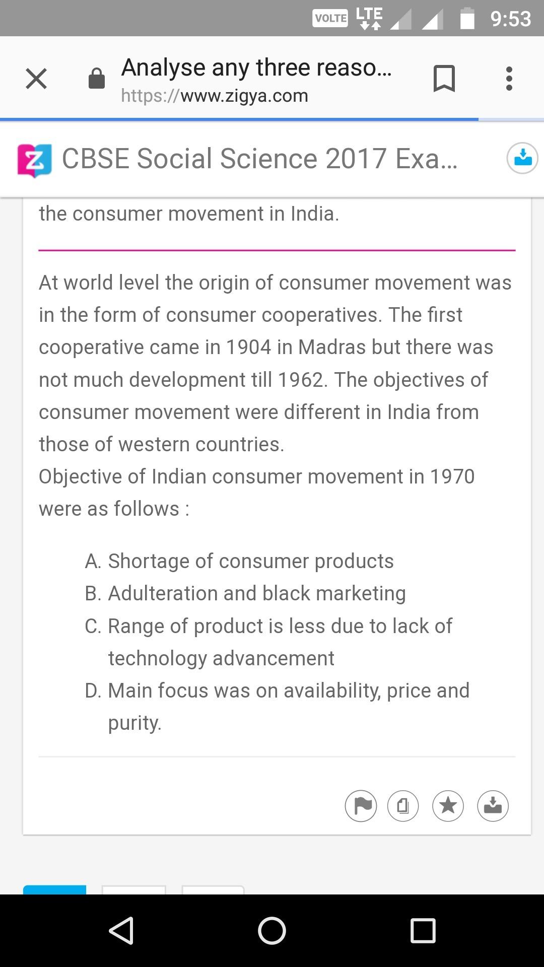 consumer movement in india