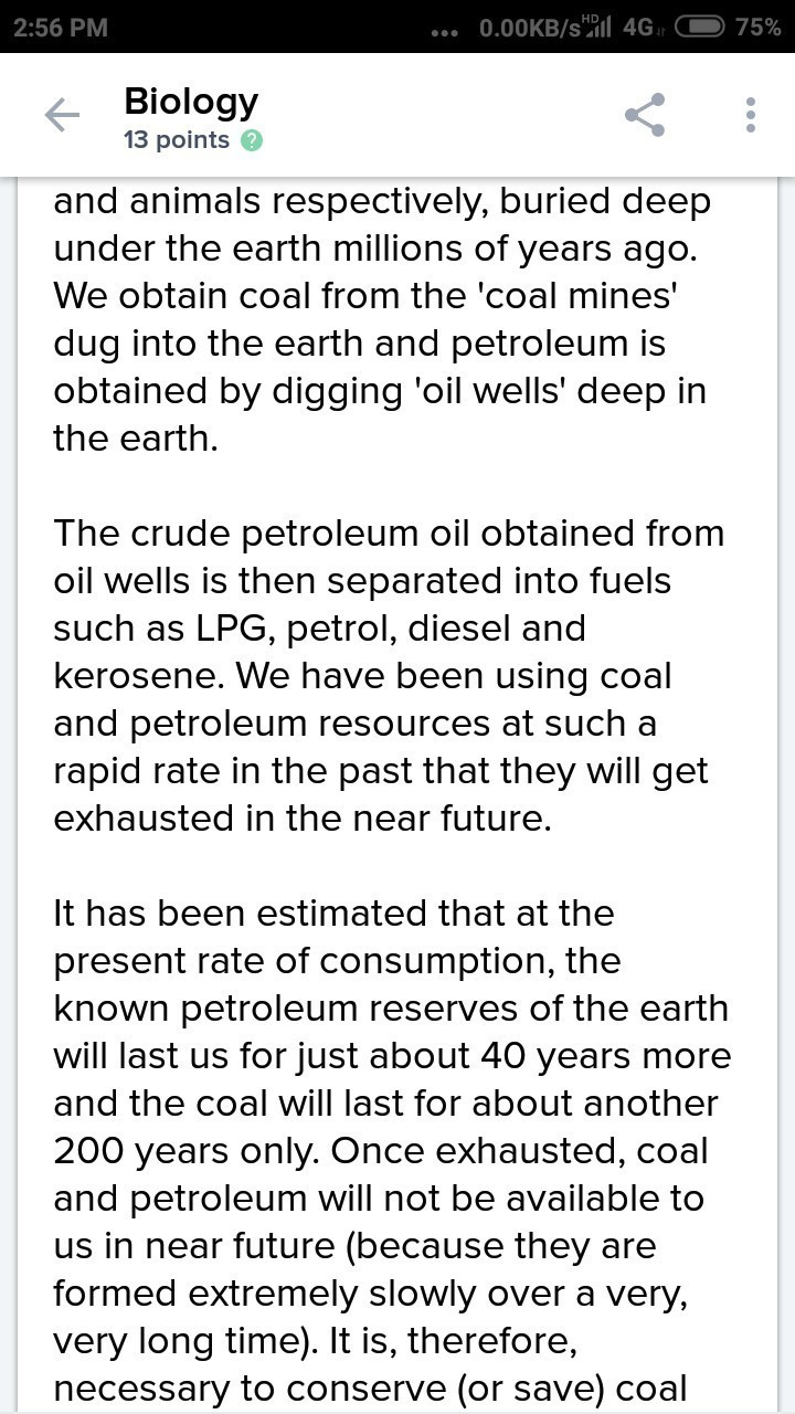 conservation of petroleum resources