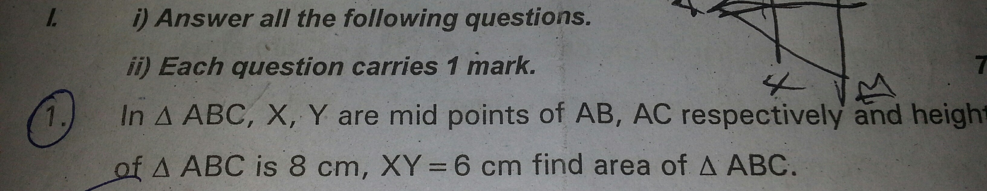 can you please solve this problem from similar triangles - Brainly.in