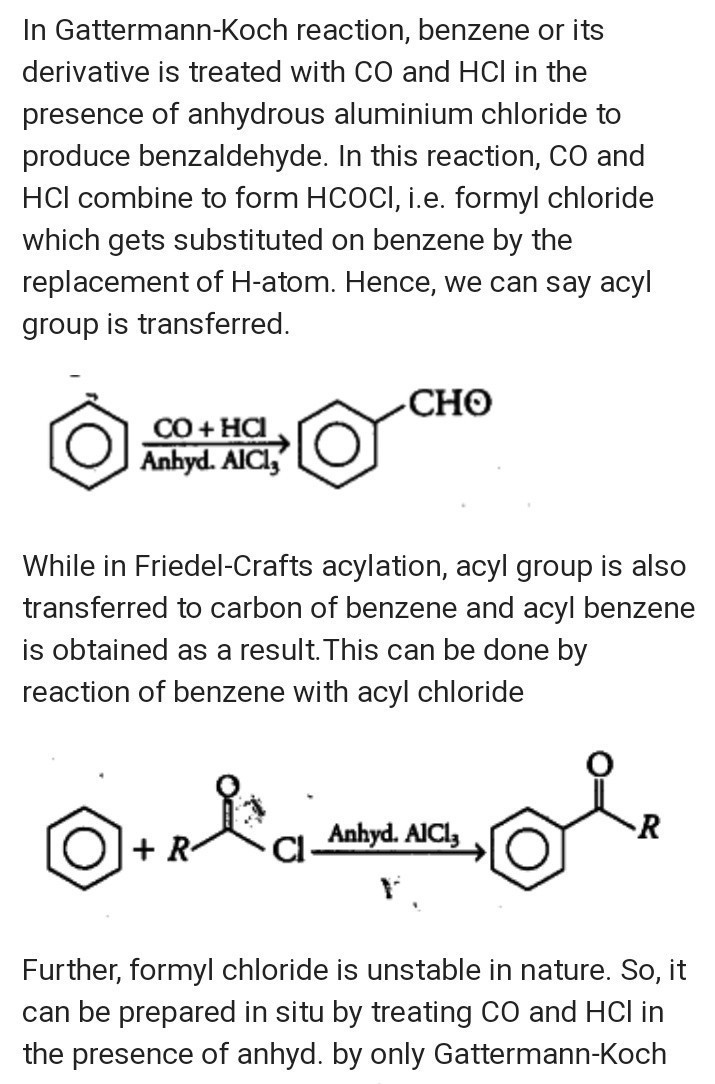 Can Gattermann-Koch reaction be considered similar to