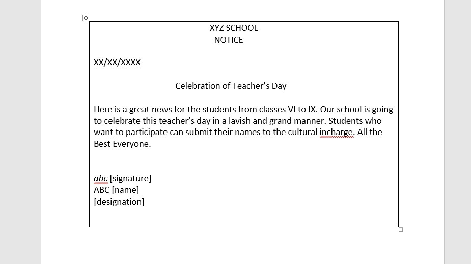 essay teachers day celebration our school