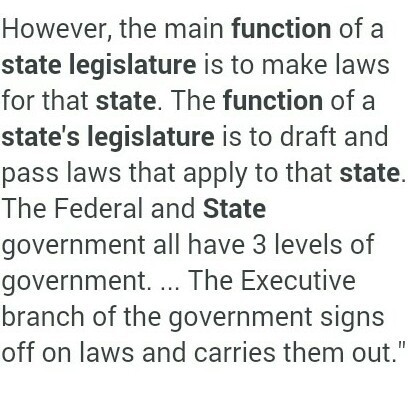 what are the functions of the legislature
