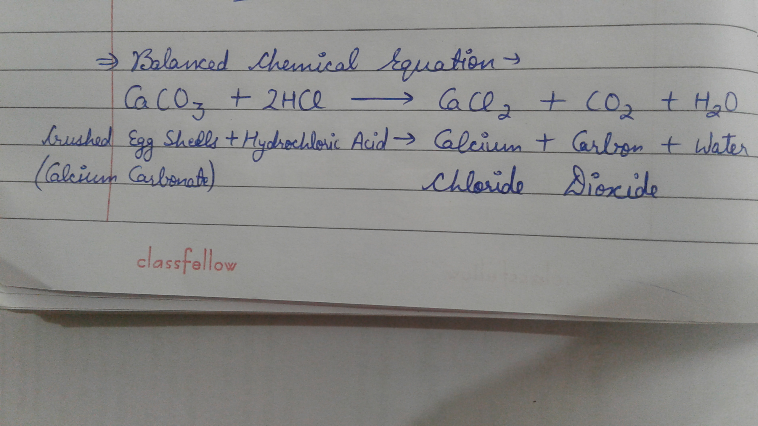 What Happens When Dulite Hcl Reacts With Crushed Egg Shell Give