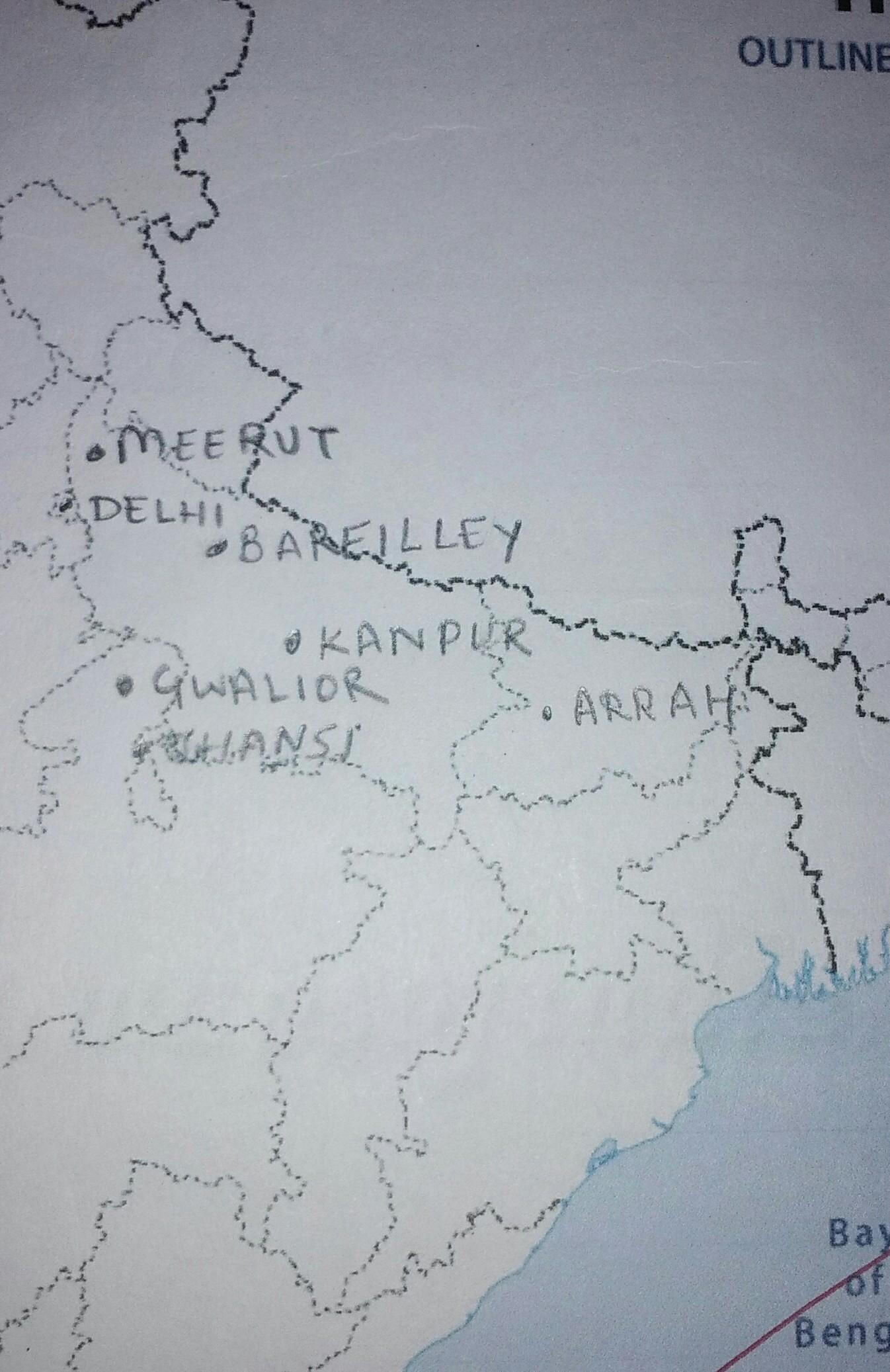 location gwalior in india map Locate Following States On India Political Brainly In location gwalior in india map