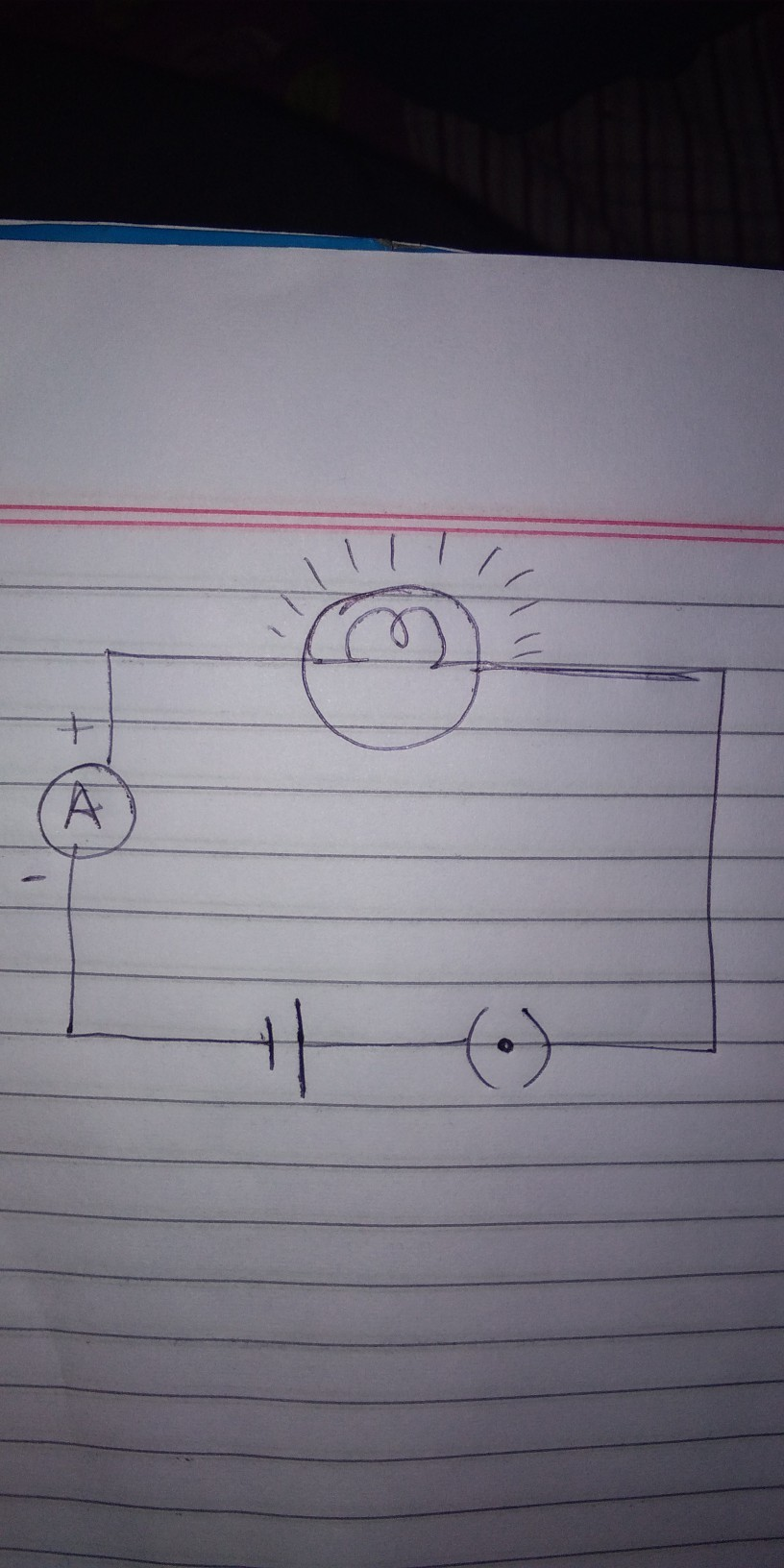 Draw A Circuit Diagram Having The Following Components 1bulb Shows Cell Lamp And An Ammeter Is Connected Download