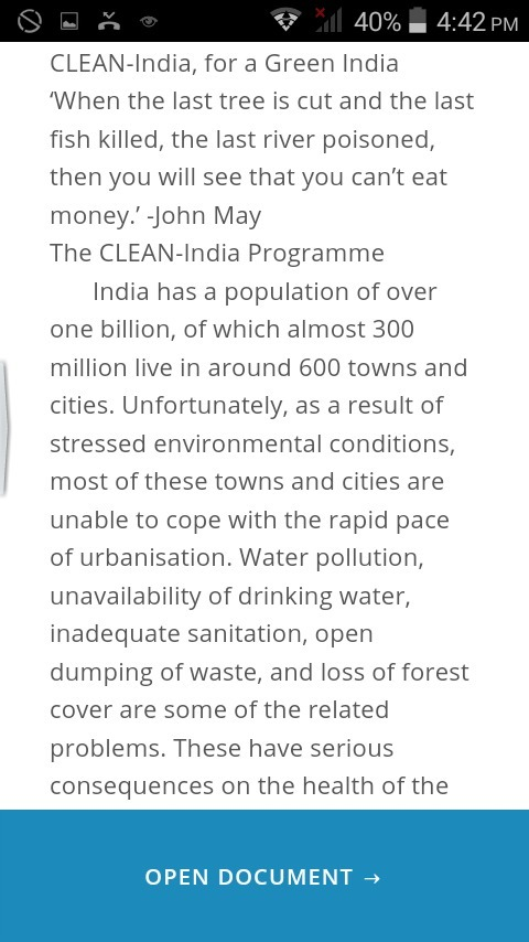 essay on clean and green