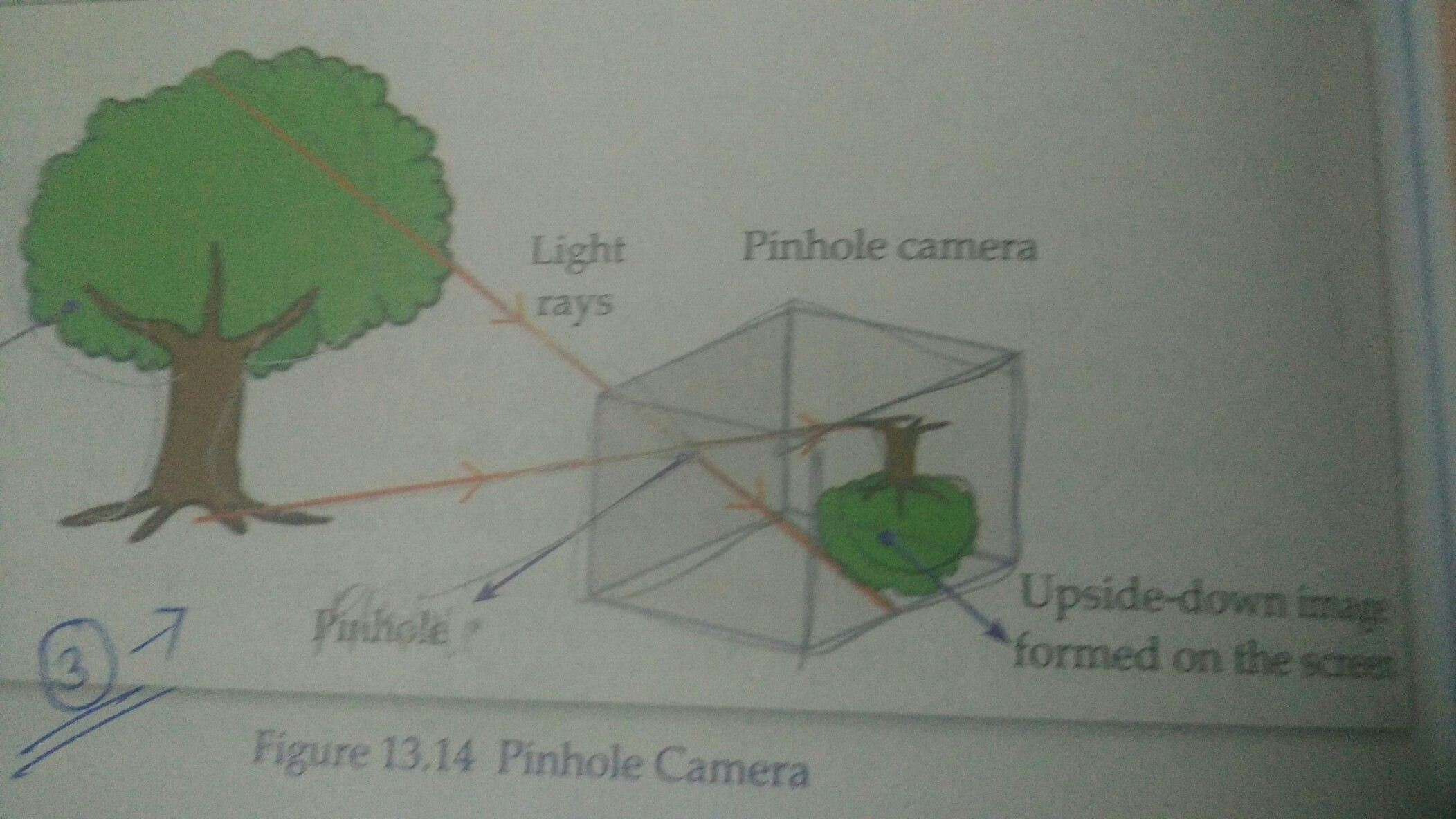 Give An Example Of Image Formedby Pinhole Camera Diagram Download